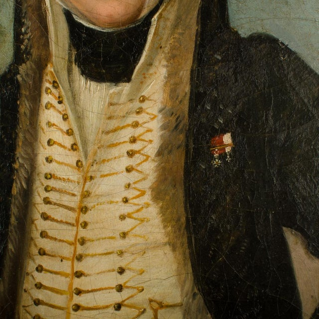 """Mid 20th Century """"Uniform with Horse"""" Figurative Oil Painting, Framed For Sale - Image 9 of 11"""