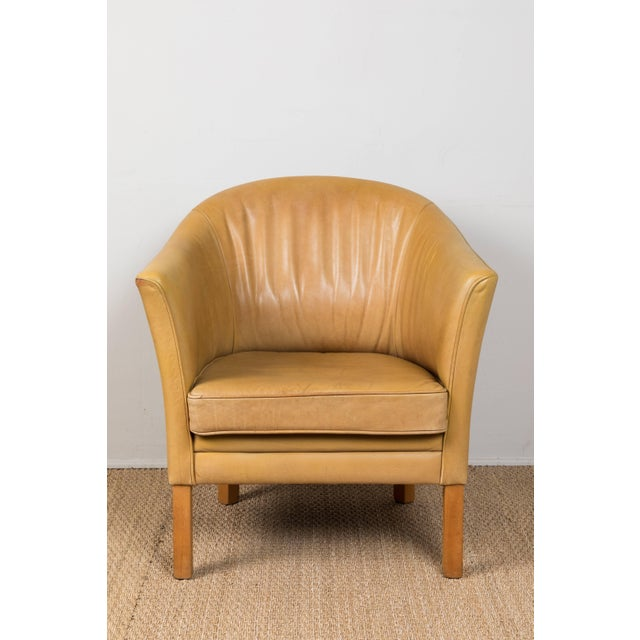 Vintage Leather Occasional Chairs (Pair Available) For Sale In Los Angeles - Image 6 of 11