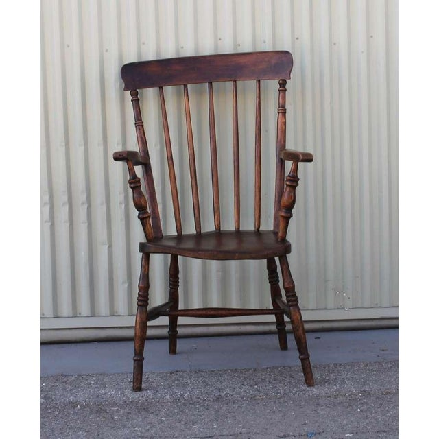 Mid 19th Century 19thc English High Back Arm Chair For Sale - Image 5 of 8