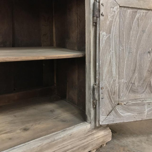 Gray Early 18th Century Country French Whitewashed Buffet For Sale - Image 8 of 13
