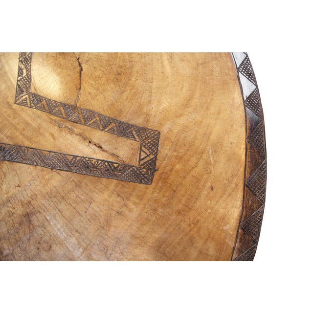 Wood Antique Large Baga Chief Stool For Sale - Image 7 of 9