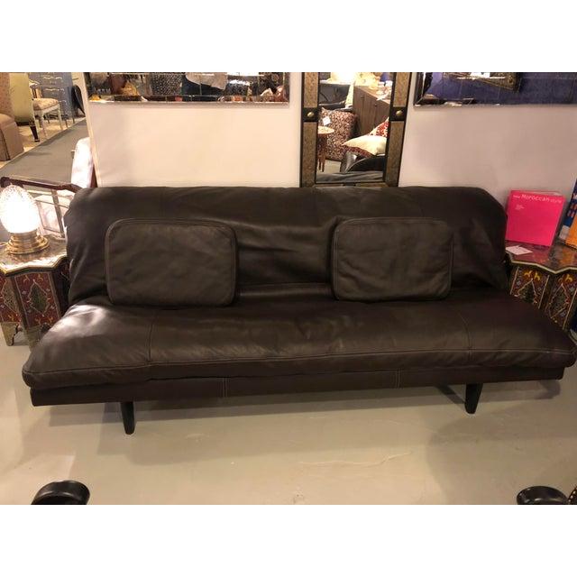 Enjoyable Vintage De Sede Brown Leather Sofa Daybed Evergreenethics Interior Chair Design Evergreenethicsorg