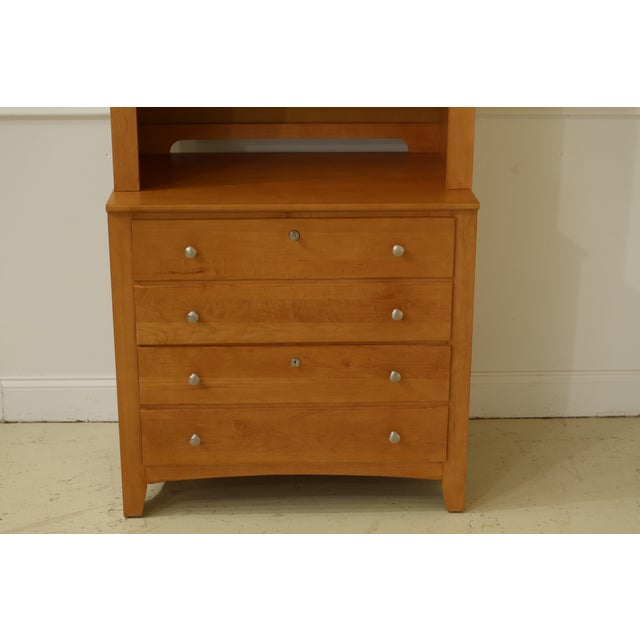 Item: F31818EC: STANLEY 2 Piece Shaker Style Maple Hutch File Cabinet Age: Approx: 15 Years Old Details: Key Locking...