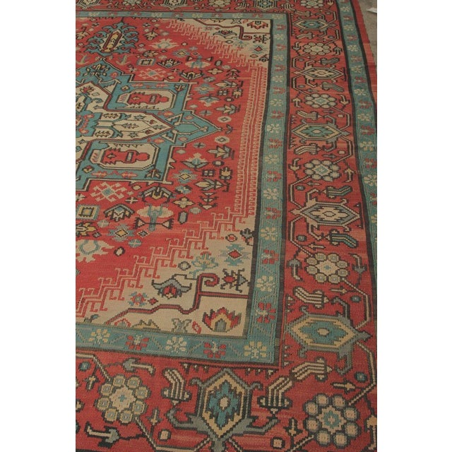 Traditional Hand Knotted Vintage Geometric Rug - 9' X 10' For Sale - Image 3 of 6