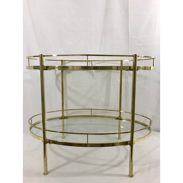 Solid Brass MCM Side Table For Sale - Image 4 of 7