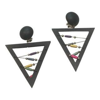 Pop Art Triangle Earrings For Sale
