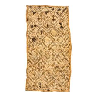 Antique Ivory Kuba Raffia Panel For Sale