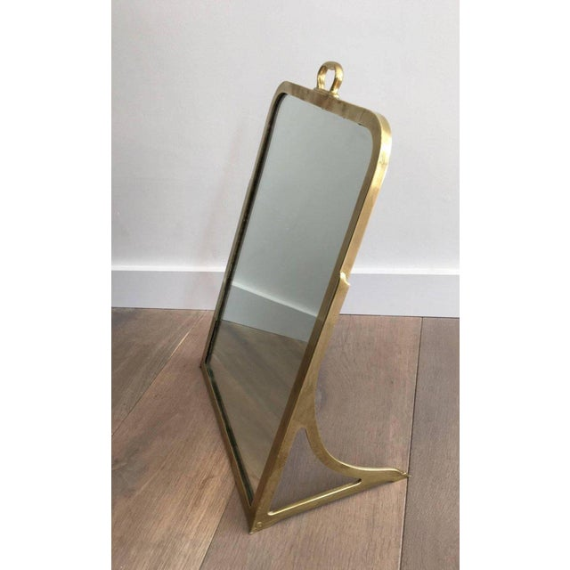 Brass Dressing Mirror Made for Shoes For Sale - Image 10 of 11