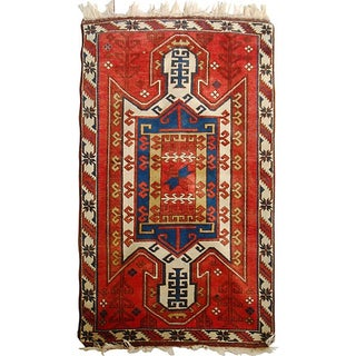 Caucasian Sewan Kazak Rug - 3′6″ × 5′10″ For Sale