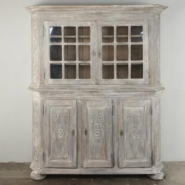 19th Century Country French Rustic Whitewashed Bookcase ~ Cabinet For Sale - Image 13 of 13