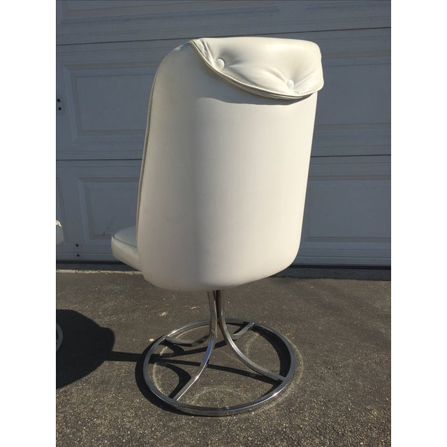 Vintage White Swivel Chairs - Set of 3 - Image 4 of 10