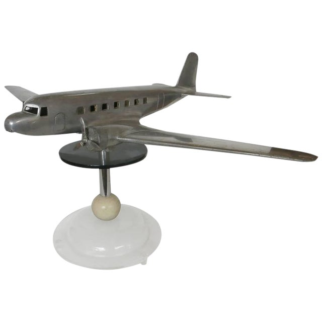 Douglas DC-2 Airplane Aluminum Model Lamp, circa 1934 - Image 1 of 10