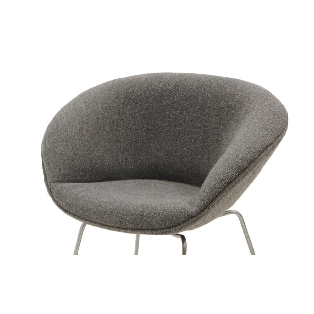 1960s Arne Jacobsen for Fritz Hansen, Restored, Maharam Fabric Pot Chairs - a Pair For Sale - Image 5 of 8