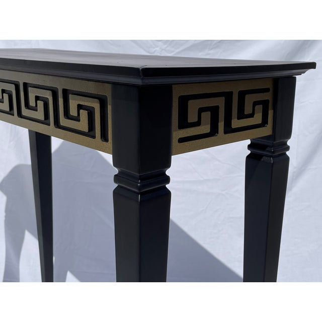 Vintage Black and Gold Narrow Side Table For Sale - Image 11 of 12