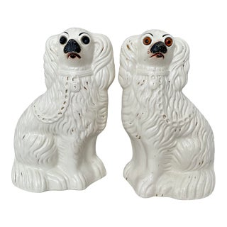 Antique Large Staffordshire Style Dogs- a Pair For Sale