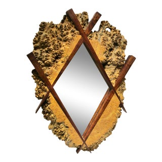 1980s Studio Organic Modern Mirror For Sale