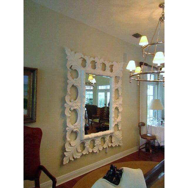 Modern Christopher Guy Elaborately Carved Wood Framed Mirror For Sale - Image 10 of 10