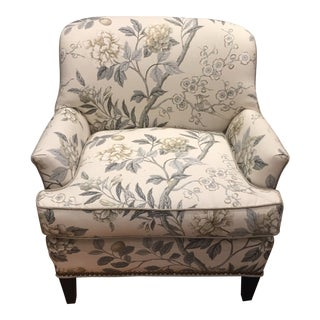 Floral Upholstered Club Chair For Sale
