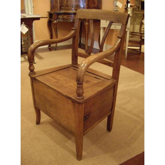 Early 19th Century 19th C. French Walnut Potty Chair For Sale - Image 5 of 8