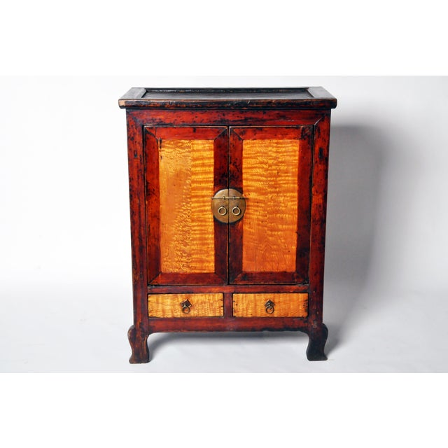 Asian Chinese Red Lacquer Cabinet For Sale - Image 3 of 11