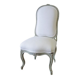 Sale 20th Century Painted & Upholstered Louis XV Style Child's Chair For Sale