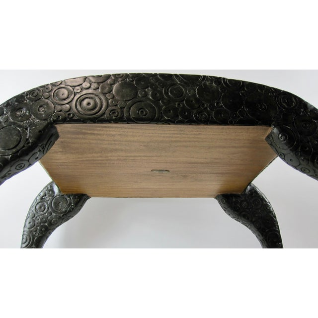 2000s R & Y Agousti French Style Ebony & Shagreen Bench For Sale - Image 5 of 10