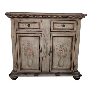 Antique Lily Finish Pulaski Cabinet