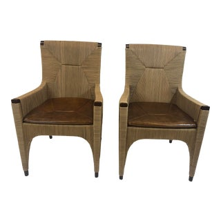 McGuire Cocoon Arm Chairs - a Pair For Sale