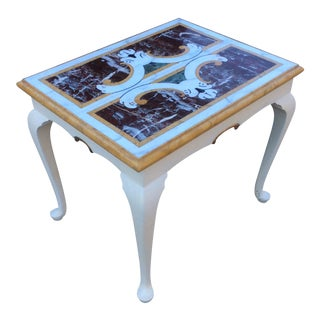 Vintage Scagliola Marble Top Table For Sale