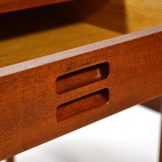 Nanna Ditzel & Jørgen Ditzel Three-Drawer Teak Desk For Sale - Image 9 of 10