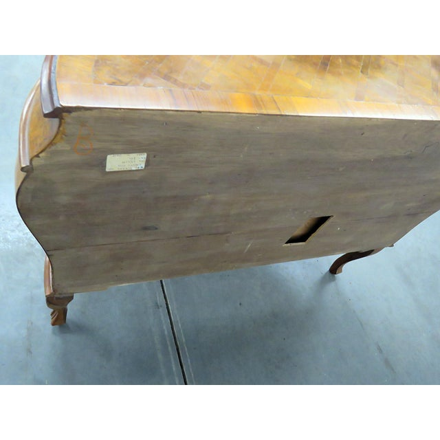 Mid 20th Century Italian Inlaid Bombe Commode For Sale - Image 5 of 9