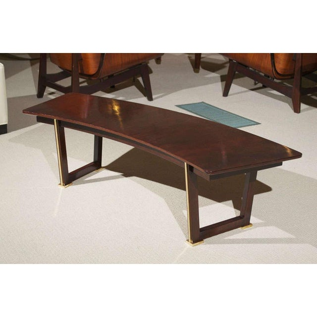 Mid-Century Modern Jules Leleu Rosewood Table For Sale - Image 3 of 9