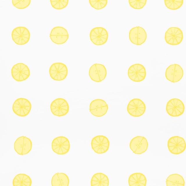 Early 21st Century Schumacher X Vera Neumann Lemonade Wallpaper in Lemon For Sale - Image 5 of 5