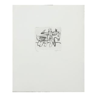 Etched Composition With Figures' by Robert Jacobsen, 2004 For Sale