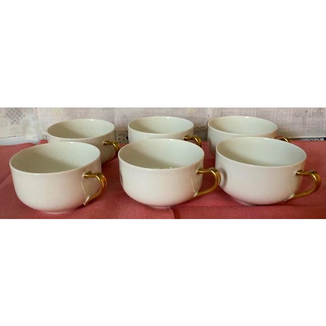 1930s Haviland & Co Limoges France Porcelain Cups - Set of 6 For Sale - Image 9 of 9