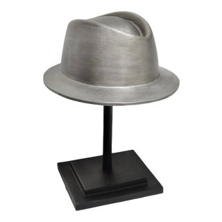 1980s Cast Metal 'Dick Tracy' Hat & Stand For Sale