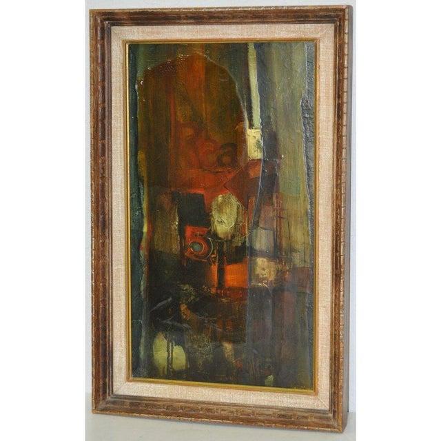 "Original acrylic painting by listed California artist Gordon Corson. Titled ""Cargo East"". Acrylic on board. Very good..."