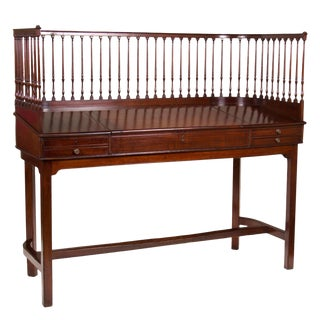 Circa 1790 George III Mahogany Banker's Desk For Sale