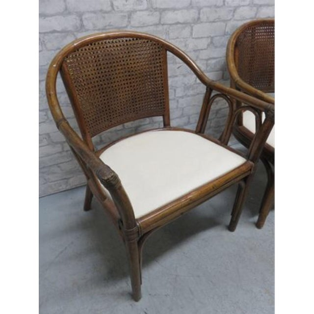 Mid 20th Century McGuire Style Rattan Cane Chair a Pair Last Markdown Firm For Sale - Image 5 of 6