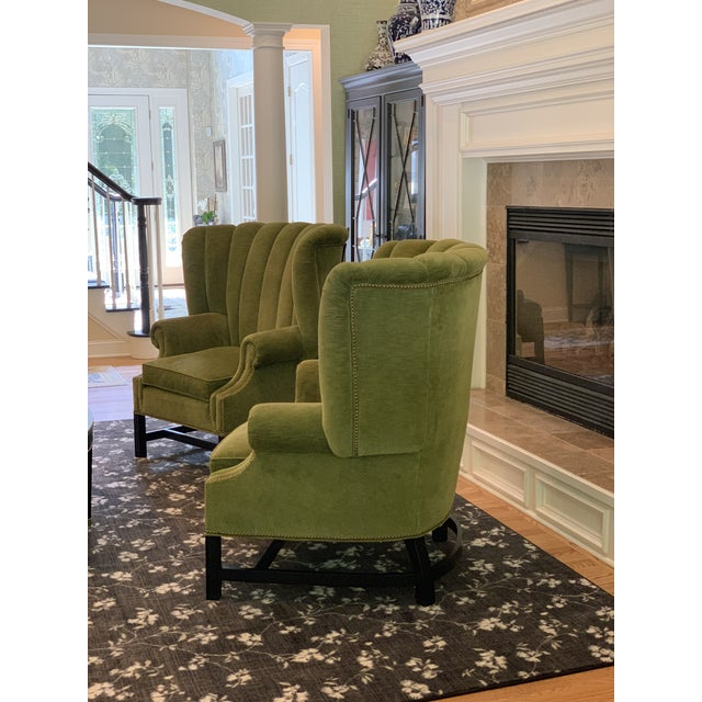 Century Furniture Artesia Wingback Chairs- A Pair For Sale - Image 11 of 13