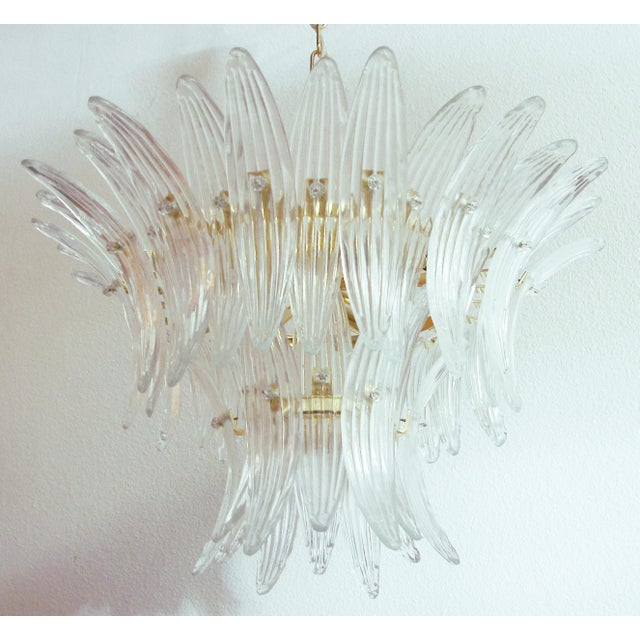 Italian Tropicana Palmette Chandelier by Fabio Ltd For Sale - Image 3 of 11