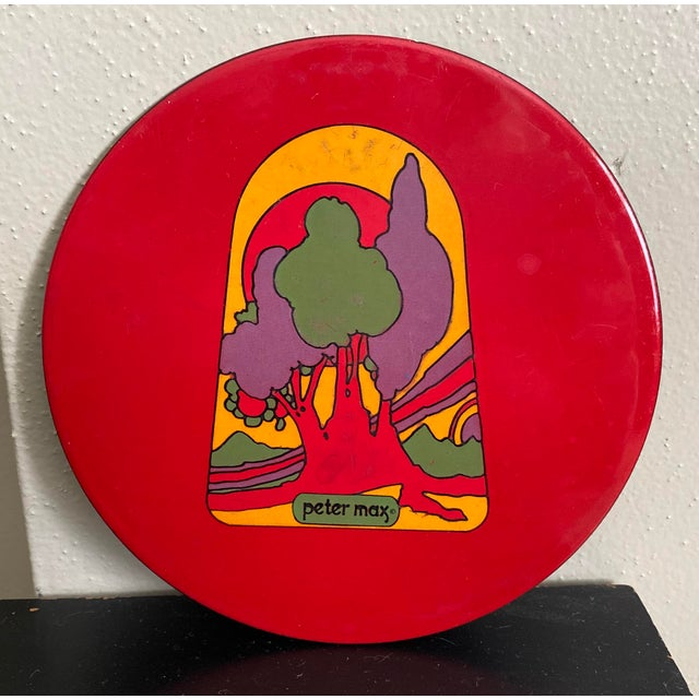 Mid-Century Modern Peter Max Enamel Trivet Tray For Sale - Image 3 of 3