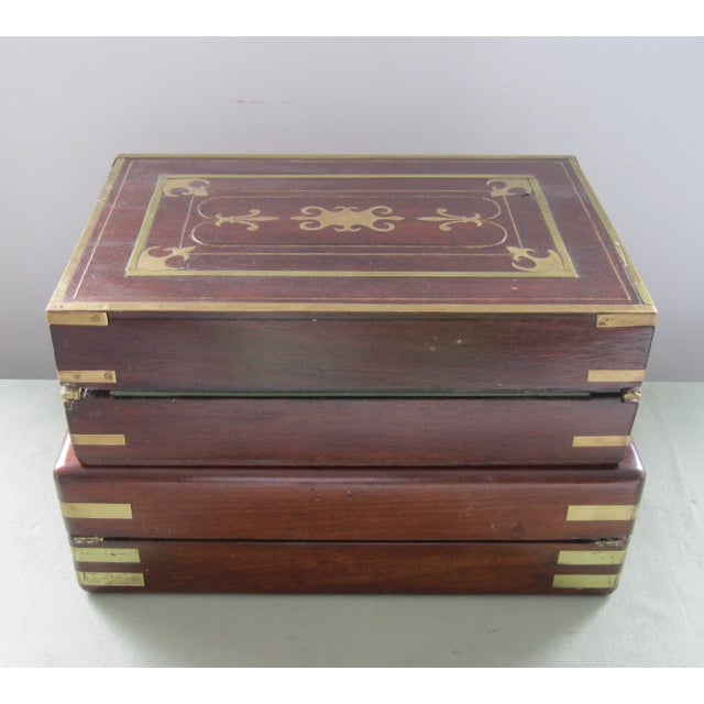 Late 19th Century 19th Century English Traditional Flaming Mahogany Document Box For Sale - Image 5 of 6