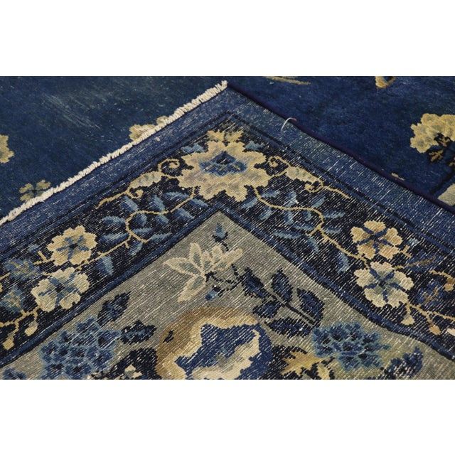 Late 19th Century Antique Chinese Peking Art Deco Rug With Chinoiserie Style - 09'01 X 13'07 For Sale - Image 5 of 10