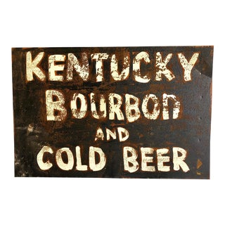 Kentucky Bourbon And Cold Beer Sign