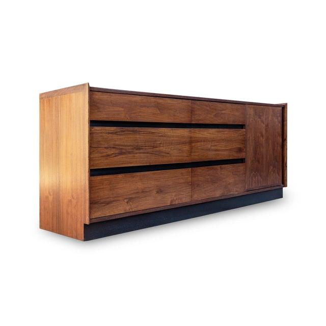 Dillingham Dillingham Esprit Walnut Dresser For Sale - Image 4 of 9