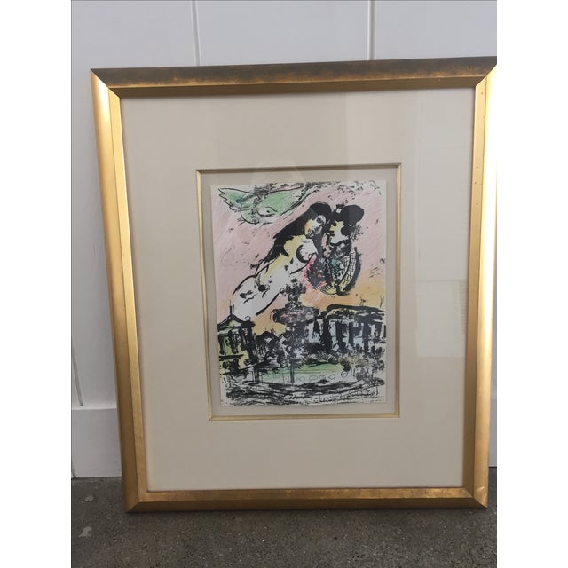 Marc Chagall Lovers in Heaven Print - Image 2 of 4