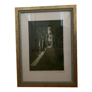Framed Italian Cityscape Print For Sale