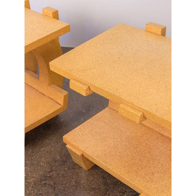 Cork Kevin Walz Cork Side Tables - a pair For Sale - Image 7 of 11