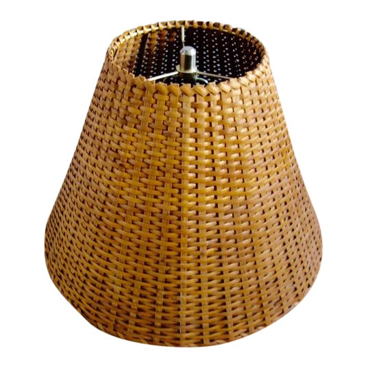 1970s Wicker Rattan Lampshade For Sale